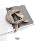 絲襪奶茶條紋小方巾絲巾圍巾
