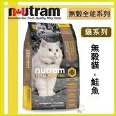 【年終回饋】*WANG*紐頓nutram《無穀全能-貓 鮭魚配方T24》1kg