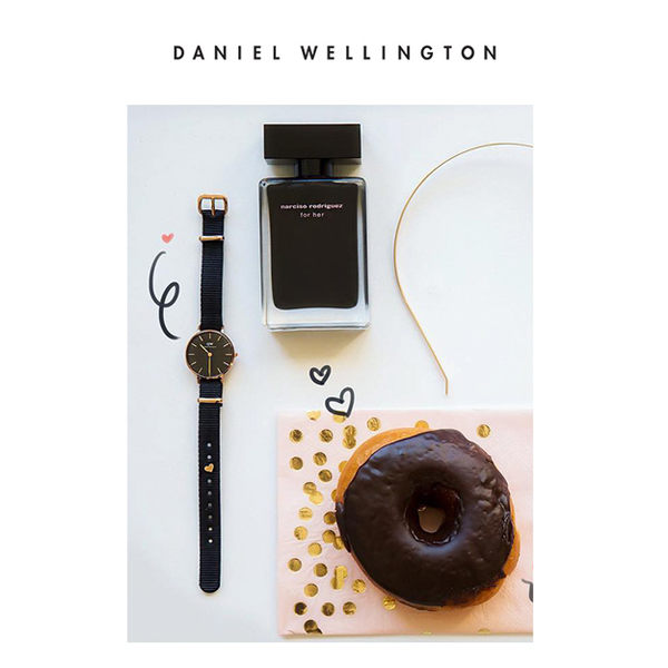 DW 手錶 官方旗艦店 28mm玫瑰金框 Classic Petite 寂靜黑米蘭金屬編織 - Daniel Wellington