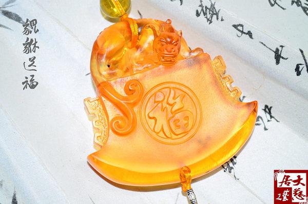 汽車掛件古法琉璃開光水晶飾品平安吉祥