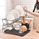 瀝水架 放碗碟架瀝水架廚房雙層筷子盤子杯子餐具整理收納架瀝水籃晾碗架 快速出貨