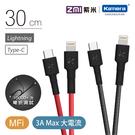 ZMI紫米 Type-C to Lightning 編織數據線30cm (AL872) IPHONE12 快充