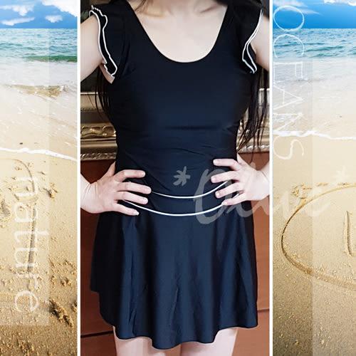 ☆小薇的店☆紅色浪漫品牌【極簡素雅風格】時尚短袖連身裙泳裝特價1420元 NO.16023(M-2L)