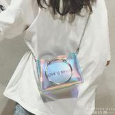 透明迷你小包包女果凍鏈條包斜挎包