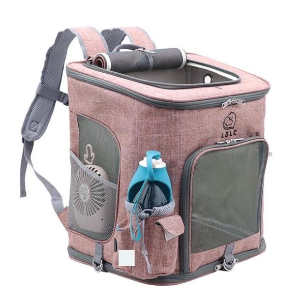 一佳寵物館 外出透氣貓包寵物背包加大貓咪雙肩包泰迪外帶便攜包狗狗用品