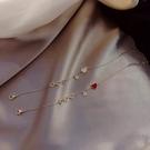 手鏈 紅色桃心手鏈女本命年鼠年手環簡約ins小眾設計閨蜜學生信物手飾【快速出貨八折鉅惠】