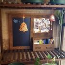 降價兩天 多功能創意木框掛式黑板 復古家用電表箱裝飾 客廳店鋪田園風壁飾