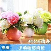 新年鉅惠 酒柜裝飾圓球花瓶桌面小清新仿真花客廳擺件假花盆栽盆景