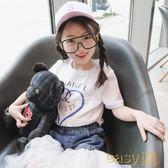 女童短袖t恤夏季2018新款韓版上衣