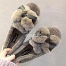 羊羔毛豆豆鞋女冬加絨2020百搭棉鞋女懶人一腳蹬毛毛鞋女新款外穿