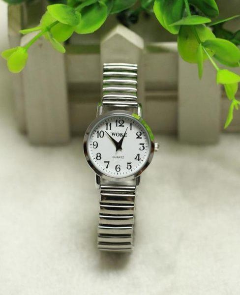 老式彈簧鬆緊帶手錶防潑水彈力【一周年店慶限時85折】