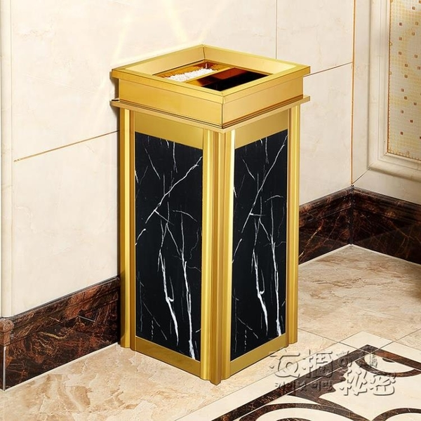 不銹鋼垃圾桶酒店大堂立式高檔家用電梯口仿大理石戶外煙灰桶大號 衣櫥秘密