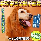 【培菓幸福寵物專營店】DYY》叢林之王狗狗變身搞怪帶耳朵獅子頭套M號-頸圍60cm以下