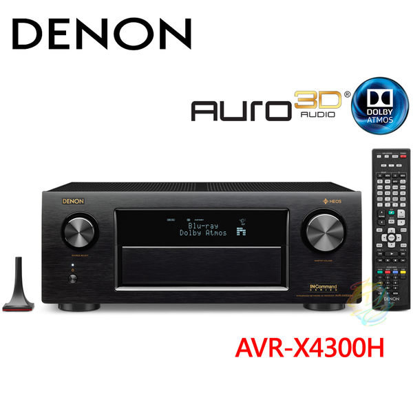 【送SONY藍光機】DENON天龍 9.2聲道 AV網路環繞擴大機 AVR-X4300H
