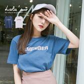 LULUS-E韓製-REMEMBER字母T恤-2色  現+預【01017792】