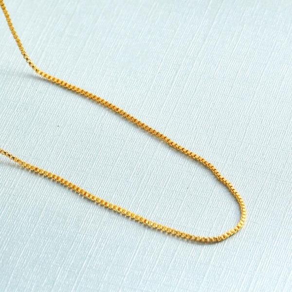項鍊韓版鍍金單鍊黃金項鍊女沙金蛇骨水波短款女士鎖骨鍊項鍊 俏女孩
