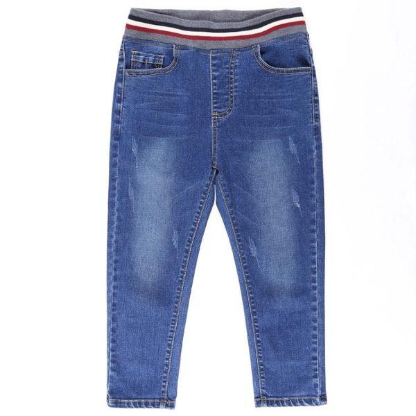 高腰大碼七分牛仔褲女夏薄鬆緊腰顯瘦小腳五分中褲學生胖mm200斤