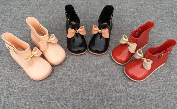 兒童雨鞋女童防滑雨靴寶寶水鞋兒童雨膠鞋果凍水靴蝴蝶結 限時八五折