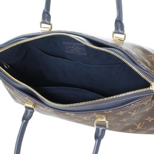 Louis Vuitton LV M44042 PALLAS 經典花紋皮飾邊手提兩用包.海軍藍 全新 預購【茱麗葉精品】