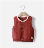 兒童秋裝2019新款嬰兒毛衣純棉洋氣寶寶女針織衫馬甲開衫背心馬夾
