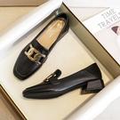 樂福鞋 2021春款樂福鞋單鞋低跟小香風小皮鞋英倫大碼寬腳肥腳女鞋41-43