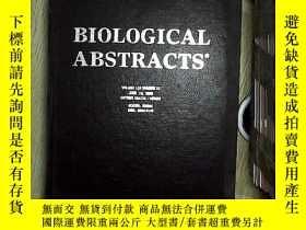 二手書博民逛書店BIOLOGICAL罕見ABSTRACTS ENTRIES VOLUME110 NUMBER11 生物文摘條目卷1