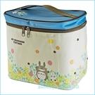 asdfkitty可愛家☆TOTORO龍貓花園方型保溫保冷便當袋/手提袋/購物袋-日本正版商品
