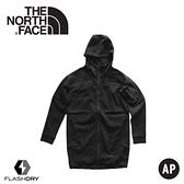 【The North Face 女 FlashDry-XD快乾長版保暖外套《黑》】3YVP/運動休閒衫/連帽外套/休閒外套