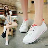 皮面帆布鞋 百搭韓版原宿小白鞋 休閒運動鞋板鞋