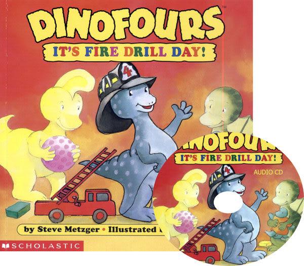 【麥克書店】IT S FIRE DRILL DAY /英文書附CD《小恐龍品格繪本》