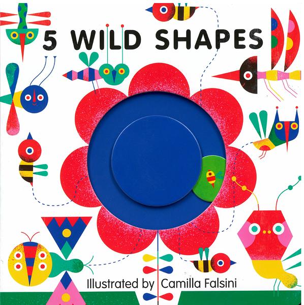 【麥克書店】5 WILD SHAPES/硬頁操作書《觸覺刺激/形狀學習》