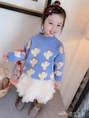 (快出)毛衣女童春裝新款兒童套頭上衣潮小童針織衫洋氣女寶寶春秋款
