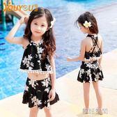 兒童泳衣女童男孩泳裝學生比基尼套裝寶寶分體小中大童泳衣褲  韓語空間