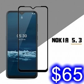 NOKIA 諾基亞 NOKIA 5.3 彩色全覆蓋鋼化玻璃膜 手機螢幕貼膜保護 高清 防刮防爆