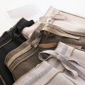 高腰繫帶羊毛呢純色女秋冬新加厚長褲寬管褲