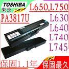 TOSHIBA 電池(保固最久)-東芝 L630D,L635D,L640D,L645D, L650, L650D,L655, L670, L670D,L675D,PA3817U