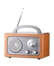 【福利品出清】 DIWANG 復古手提收音機-銀色CR-102W (要使用電池)