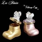 【La Finia】手工彩繪可愛錢鼠珠寶盒(二色可選擇)