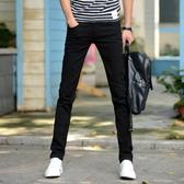 【免運】牛仔褲 新款牛仔褲男彈力修身小腳褲青年男士韓版潮流學生褲子男薄款