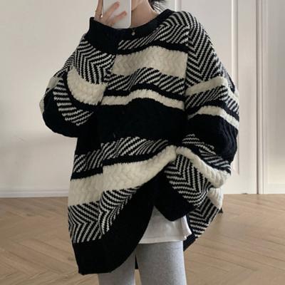 針織毛衣 長袖毛衣 秋冬外套寬松套頭慵懶風顯瘦針織毛衣H5F-501.依品國際