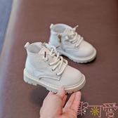 寶寶馬丁靴英倫風男女童真皮短靴兒童靴子小童加絨【聚可愛】