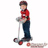 (送日本RANGS安全帽 + 護膝)【 美國 Razor Jr.】 Robo Kix Scooter兒童三輪滑板車 - 機器人