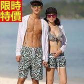 情侶款海灘褲(單件)-衝浪防水性感豹紋兩側口袋男女沙灘褲2色66z8[時尚巴黎]