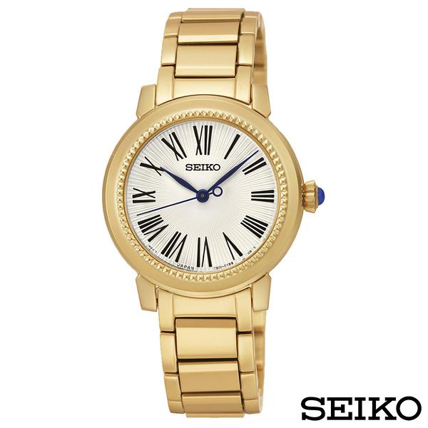 SEIKO精工 貴氣羅馬石英腕錶 SRZ450P1