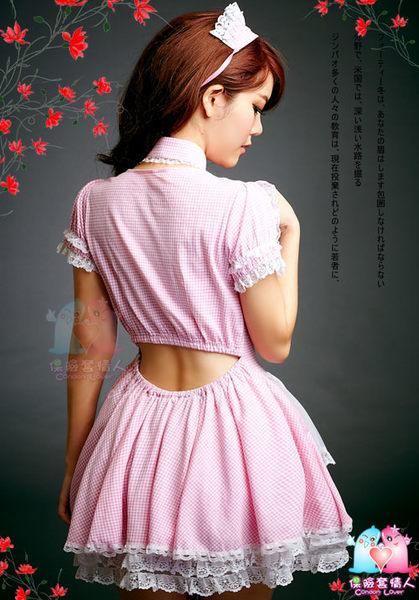 【愛愛雲端】俏蘿莉最愛!三件式 格紋 俏女傭服 角色扮演 R8NA10030076