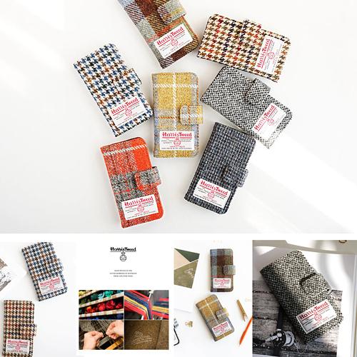 【韓國創意品牌 invite.L】Apple iPhone6 Plus iPhone 6S Plus 專用皮套 Harris Tweed 羊毛材質 卡片槽設計