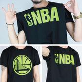 創信 NBA 2016 短袖 棉質 基本款 胸前綠字大LGOG 勇士 NBA 8630203- ☆SP☆