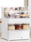 防油帶蓋調料盒置物架多功能調味瓶收納架子多層廚房用品家用大全 WD 一米陽光
