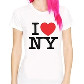 I Love NY短袖T恤-白色 街頭潮流紐約NYC平價時尚設計390 gildan