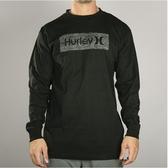 Hurley M CRE BOXED TEXTURE LS 長袖T恤-黑